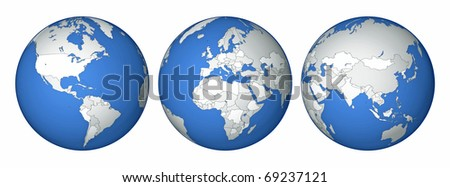 all the states of the world - stock photo