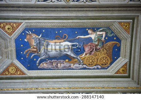 allegorical paintings in Villa Farnesina in Rome