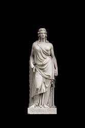 Allegorical sculpture (immortality) by Valeriano Salvatierra y Barriales, Museo del Prado, Madrid