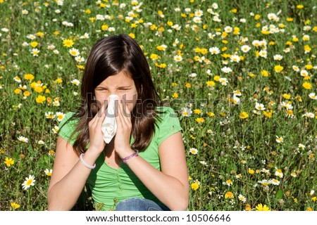 allergy,hayfever - stock photo