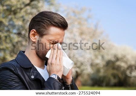 Allergy, Man, Springtime