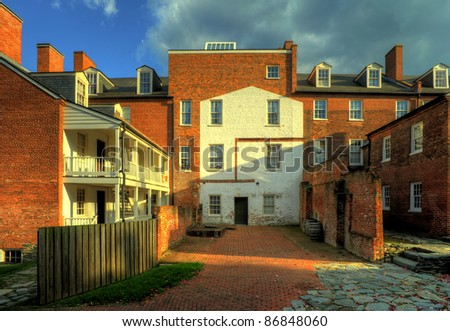 Alley Court Yard in Harpers Ferry, Maryland, USA