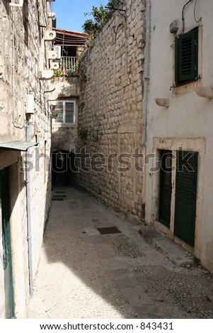 Alley in Dubrovnik, Croatia.