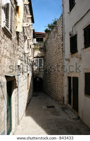 Alley in Dubrovnik, Croatia.