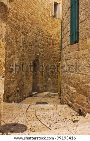 Alley in Jerusalem old city, Israel