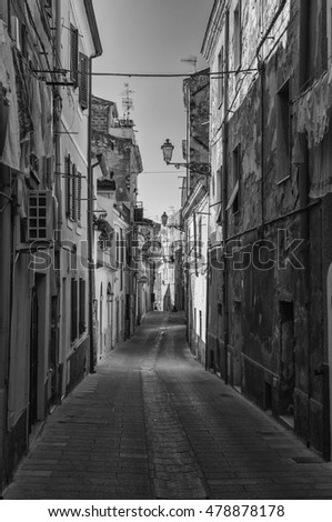 Alley in old italian city #478878178
