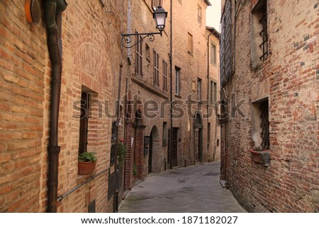 Alley in the village of Citta della Pieve, Italy Foto d'archivio ©