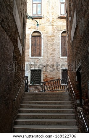 alley with stairs in Venice