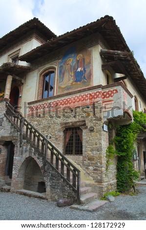 Alleyway. Grazzano Visconti. Emilia-Romagna. Italy.