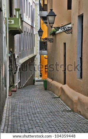 Alleyway in Old San Juan