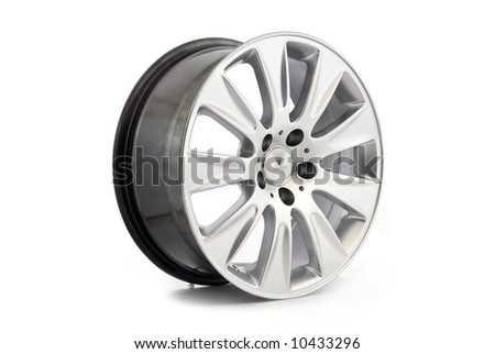 alloy wheel on white back