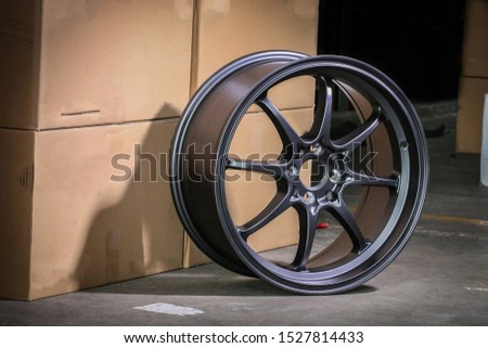 Alloy wheels are stylish and cool on the warehouse floor. #1527814433