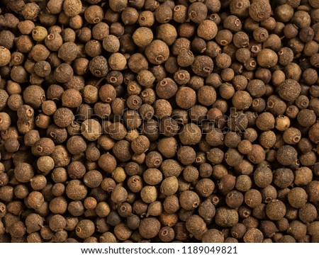 Allspice spice background. Natural seasoning texture. #1189049821