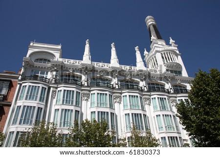 Almacenes Simeon - old building at Plaza Santa Ana in Madrid, Spain #61830373