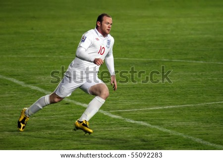 ALMATY - JUNE 6: Footballer Rooney participates Kazakhstan v England, FIFA World Cup European Qualifying, Group Six, June 6, 2009 in Almaty