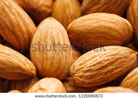 Almond. Almonds macro. Almonds background. Almond nuts #1220080873
