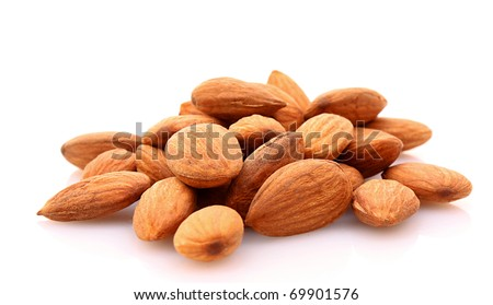Almond isolated on white