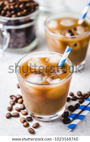 almond milk iced coffee in...