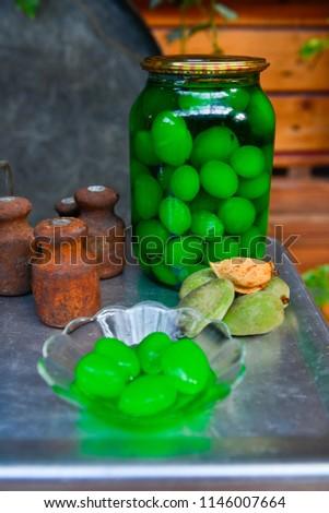 Almond preserve jam conserve sweets #1146007664