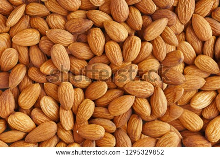 Almonds. Almond Kernels for Background or Texture  #1295329852