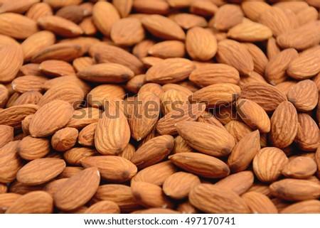 Almonds background - healthy snack - ingredient #497170741