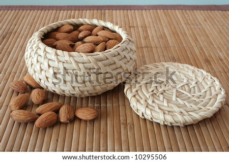 Almonds in the basket