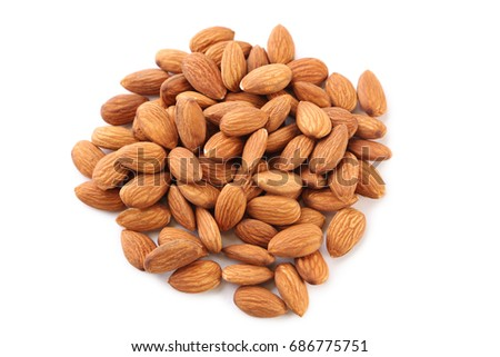 Almonds isolated on a white background #686775751
