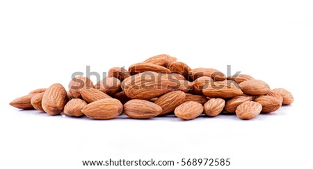 Almonds isolated on white background #568972585