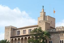 Almudaina Palace building in Palma de Mallorca