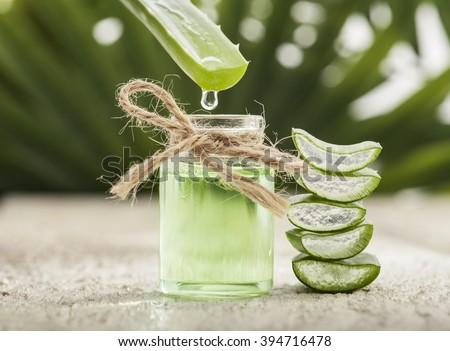 aloe vera essential oil on...