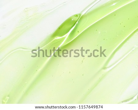 Aloe Vera gel smudge on a white background