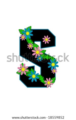 S Alphabet In Flowers Aloha Alphabet Letter S Is