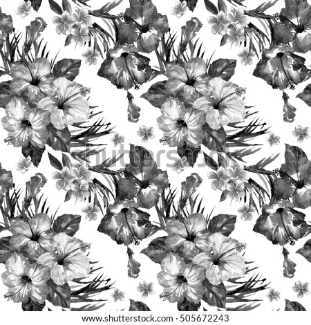 Floral seamless pattern with image of a big peony and leaves vector floral seamless pattern with image of a big peony and leaves vector black and white illustration ez canvas mightylinksfo