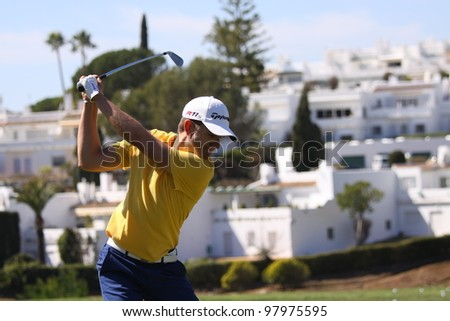 ALOHA GOLF COURSE, MARBELLA, SPAIN - MARCH 14 :  Christian Cevaer (FRA) at Andalucia Open, Golf European Tour, March 14, 2012, at  Alhoa Golf Club, Marbella, Spain.