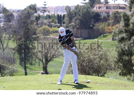 ALOHA GOLF COURSE, MARBELLA, SPAIN - MARCH 14 :  Horne (ENG) at Andalucia Open, Golf European Tour, March 14, 2012, at  Alhoa Golf Club, Marbella, Spain.