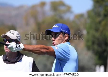 ALOHA GOLF COURSE, MARBELLA, SPAIN - MARCH 14 :  Rafael Cabrera bello (SPA) at Andalucia Open, Golf European Tour, March 14, 2012, at  Alhoa Golf Club, Marbella, Spain.
