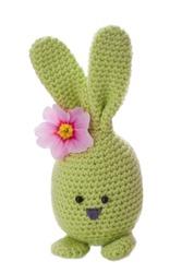 aloha green handmade easter bunny with flower