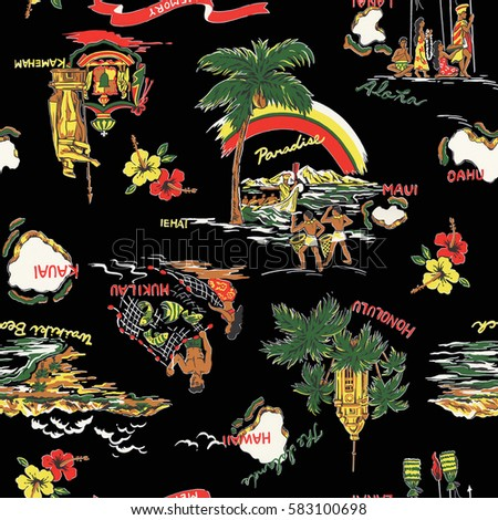 Aloha shirt pattern ストックフォト ©