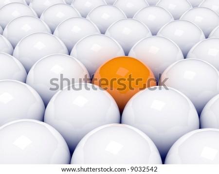 Alone 3d orange ball