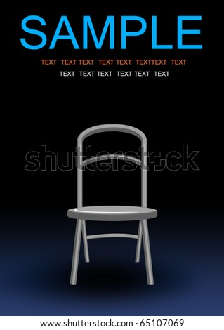 alone investigate chair illustration background