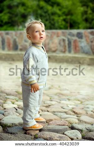 alone little boy