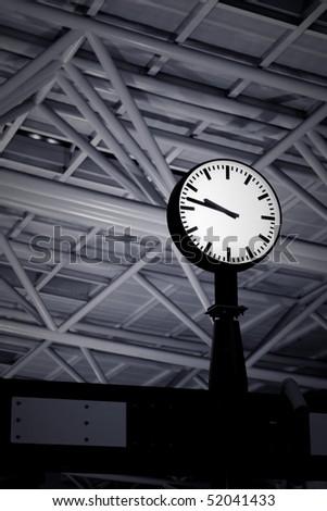 Alone train station's clock