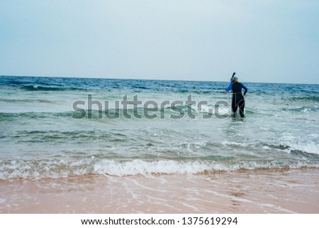 alone with the sea, diving suit #1375619294