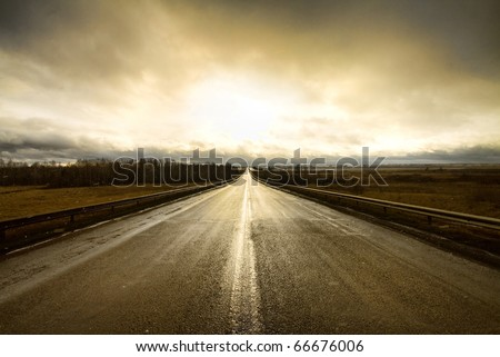 along a highway - stock photo