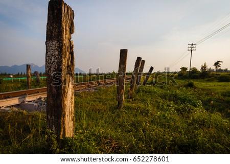 Alongside the railroad