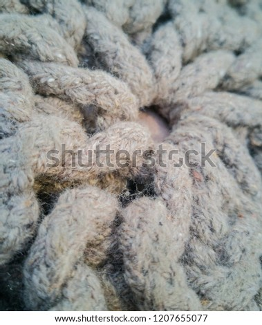 Alpaca and mohair wool as a texture