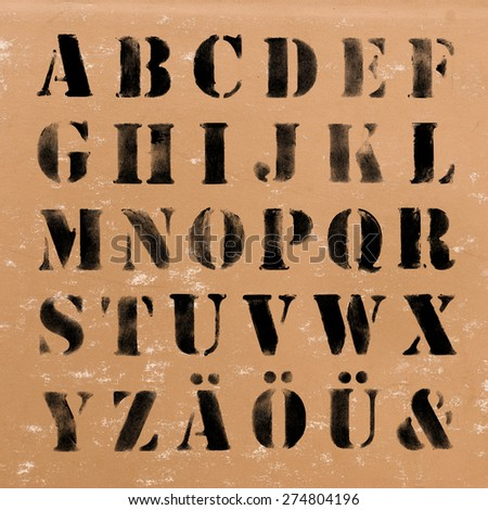Alphabet - ABC Painted Letters. Modern Brushed Lettering. Painted Alphabet