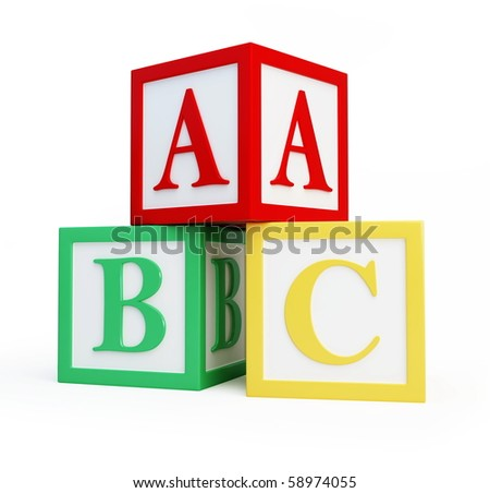 alphabet blocks solated on a white background