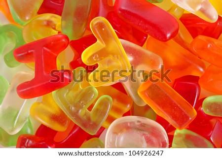 Alphabet candies background