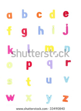 Alphabet, Colourful Fridge Magnets, Set of Letters, ABC